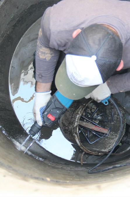 Как мы выполняем ремонт колодцев в Ивантеевке